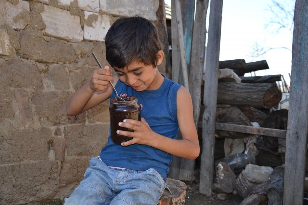 Singura bucurie a lui Elisei este dulceata de prune, facuta din fructele primite de la vecini.