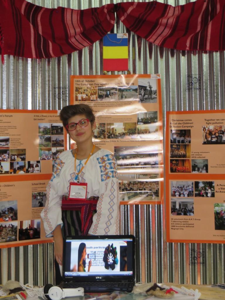 Lucia, reprezentanta Romaniei la Conferinta Trianuala World Vision.