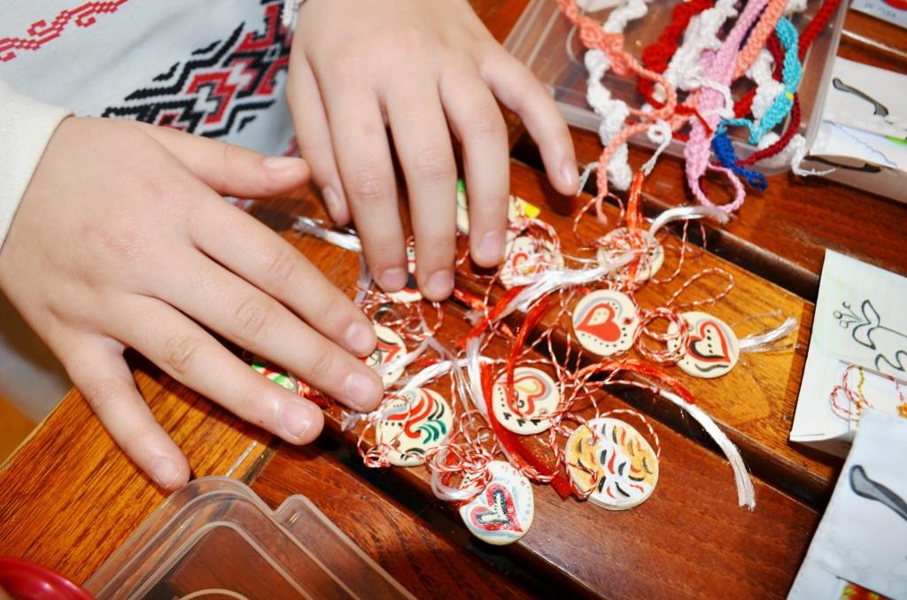 Martisoare colorate realizate de copii