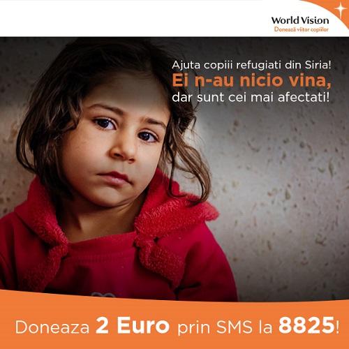 World Vision Romania deschide linia de SMS 8825 pentru sprijinirea copiilor sirieni blog